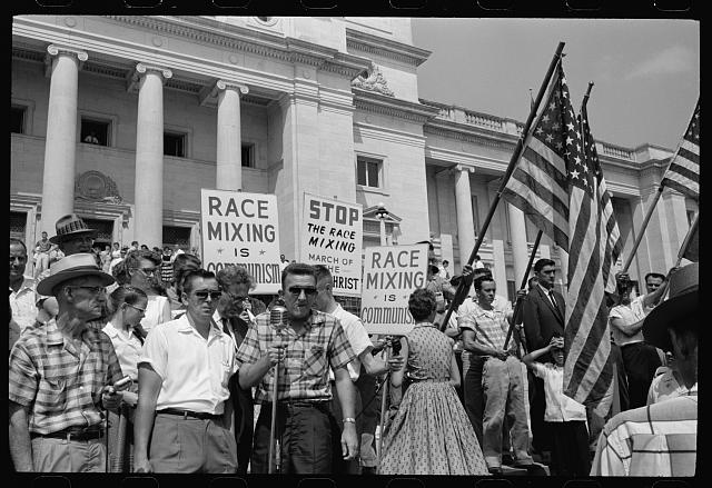 Little Rock, 1959. Rally at state capitol